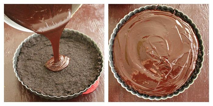 Salted Chocolate Tart | Big Green House #chocolate #tart #oreocrust #dessert