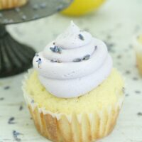 Lemon Cupcakes with Lavender Buttercream Frosting : Big Green House