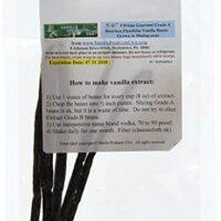 "Vanilla Products USA 5 Grade A Prime Gourmet Bourbon Madagascar Vanilla Beans 5~6"""