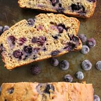 Brown Sugar Blueberry Quick Bread | Big Green House #blueberry #blueberries #quickbread #brownsugar