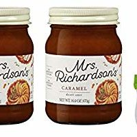 Mrs Richardsons Caramel, 17 oz (Pack of 2) with Silicone Basting Brush in a Prime Time Direct Sealed Bag
