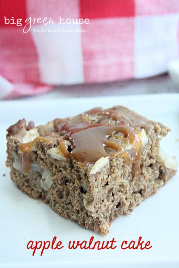 Apple Walnut Cake   Big Green House #apple #walnut #cake #dessert