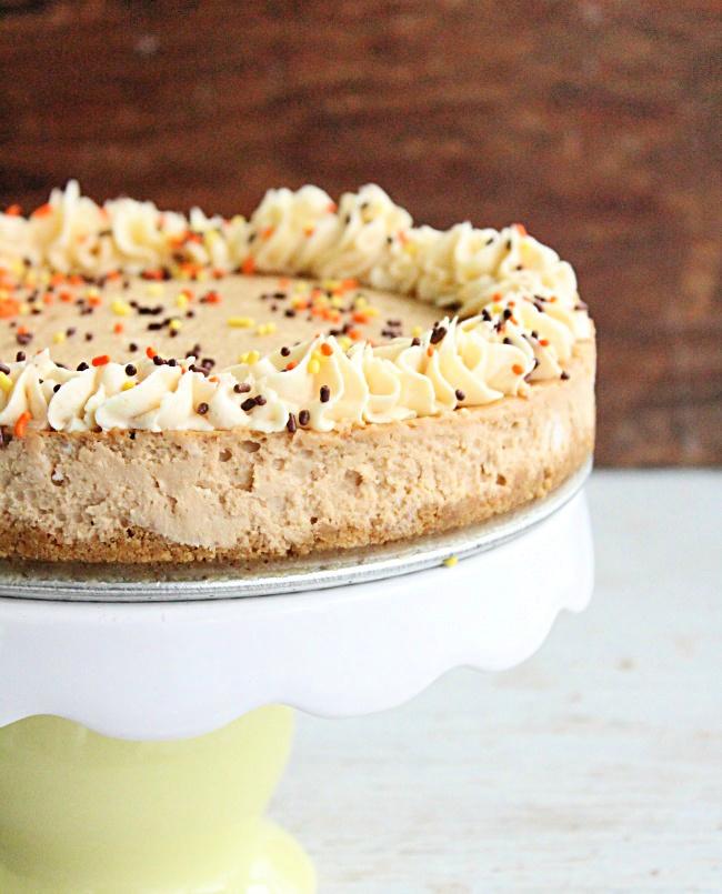 Dulce De Leche Buttermilk Cheesecake- Big Green House #dulcedeleche #cheesecake #caramel #buttermilk #dessert