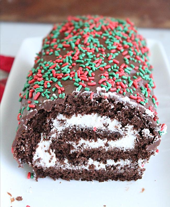Chocolate Roll Cake- Big Green House #chocolate #cake #dessert #rollcake