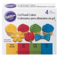 4 Piece Gel Food Coloring