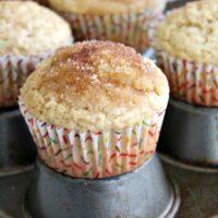 Self Rising Flour Cinnamon Muffins- Big Green House #selfrisingflour #muffins #breakfast #cinnamon #brunch