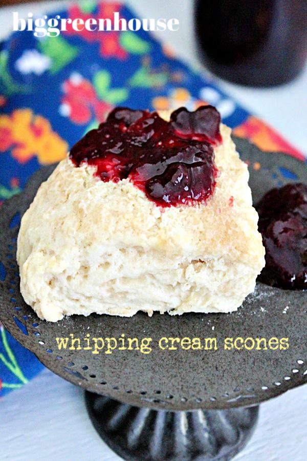 Whipping Cream Scones- Big Green House #scones #whippingcream