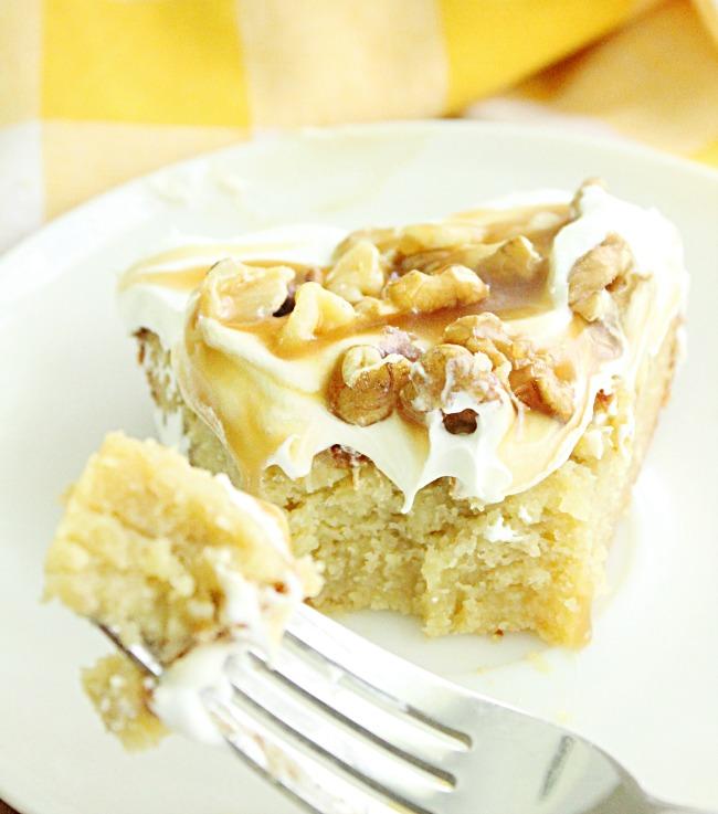 Banana Walnut Caramel Pie- Big Green House #pie #banana #caramel #walnut #dessert