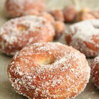 Yeast Raised Sugar Doughnuts- Big Green House #yeastraised #sugar #doughnuts #donuts #baking #biggreenhouseblog