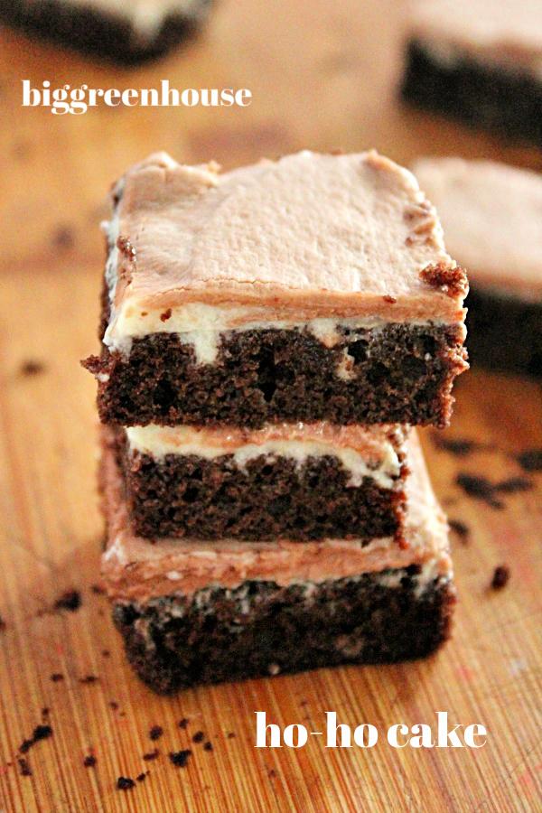 Ho Ho Cake- Big Green House #biggreenhouseblog #hohocake #cake #dessert #chocolatecake