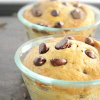 Chocolate Chip Muffins for Two- Big Green House #biggreenhouseblog #chocolatechipmuffins #bakingfortwo #chocolatechip #muffins