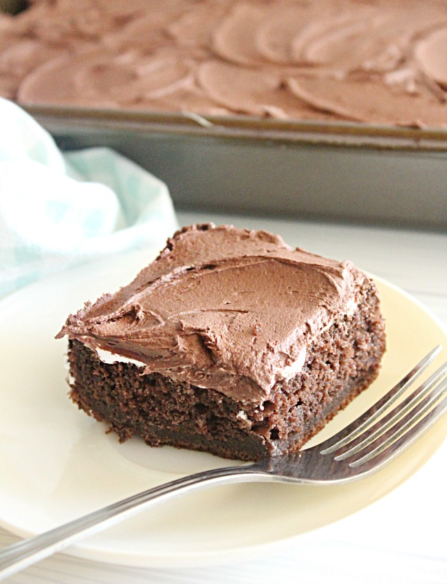 Marshmallow Fluff Chocolate Cake