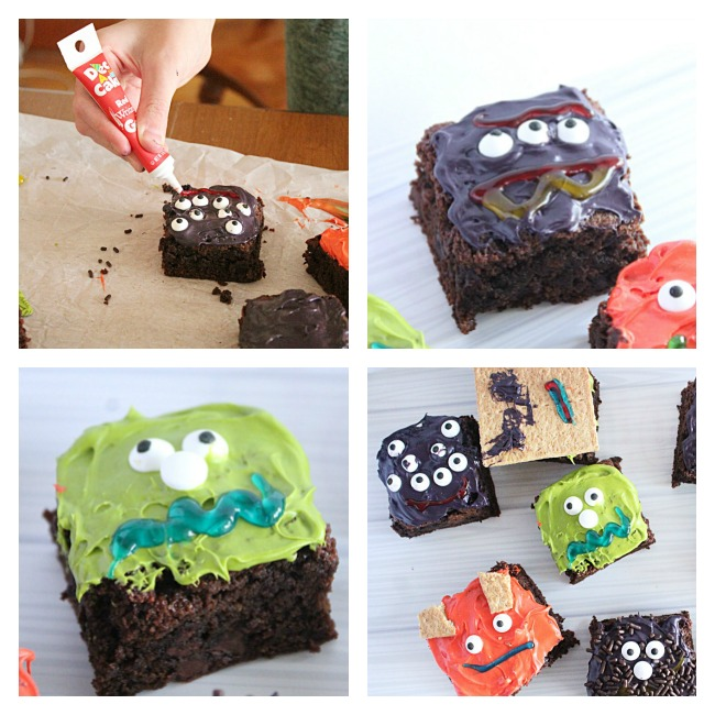 Monster Brownies- Big Green House #biggreenhouseblog #brownies #halloween #chocolate #dessert