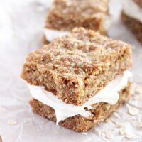 Oatmeal Creme Bars- Big Green House #biggreenhouseblog #oatmeal #creme #bars #dessert #oatmealcreme