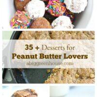 Over 35 Desserts for Peanut Butter Lovers- Big Green House #peanutbutter #desserts #peanutbutterlovers #biggreenhouseblog