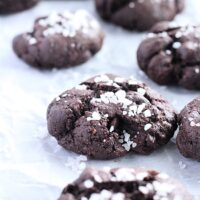 Sea Salt Brownie Cookies- Big Green House #biggreenhouseblog #cookies #seasalt #darkchocolate #dessert #norefinedsugar #almondflour
