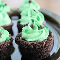 Irish Cream Brownie Bites- Big Green House #biggreenhouseblog #brownies #chocolate #irishcream #dessert #browniebites