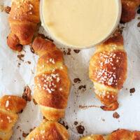 Salted Beer Pretzel Crescents- Big Green House #biggreenhouseblog #crescentrolls #beer #pretzels #rolls