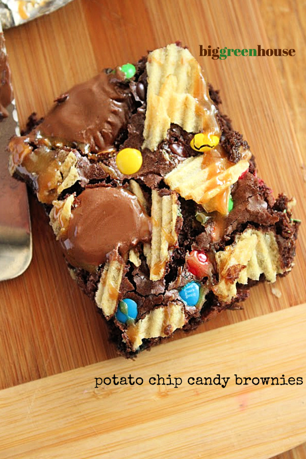Potato Chip Candy Brownies- Big Green House
