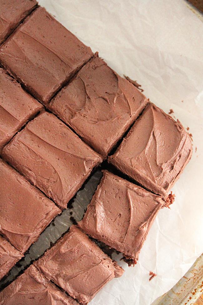 Greek Yogurt Chocolate Cake with Peanut Butter Chocolate Buttercream Frosting - Big Green House