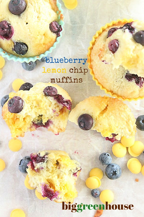 Blueberry and Lemon Chip Cupcakes- Big Green House